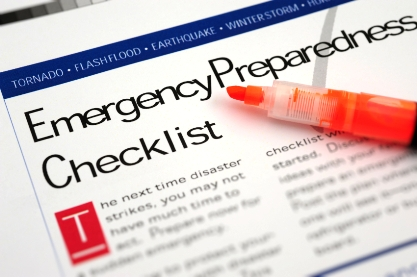 Emergency food check list